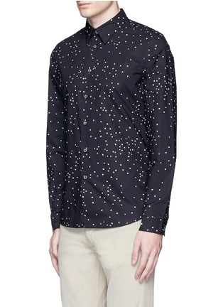 Front View - Click To Enlarge - PS Paul Smith - Micro heart print cotton shirt