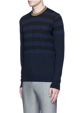 Front View - Click To Enlarge - PS Paul Smith - Contrast neck stripe wool sweater