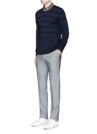 Figure View - Click To Enlarge - PS Paul Smith - Contrast neck stripe wool sweater