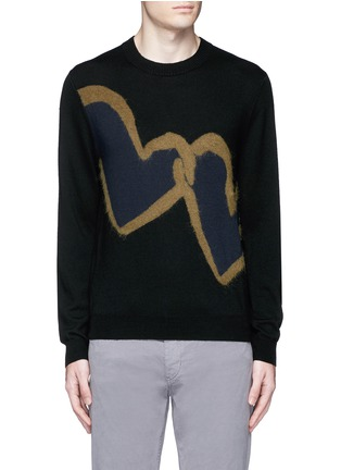 Main View - Click To Enlarge - PS Paul Smith - 'Chain-link Heart' Merino wool sweater