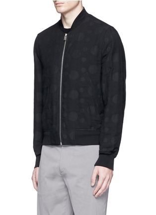 Front View - Click To Enlarge - PS PAUL SMITH - Polka dot jacquard cotton-wool bomber jacket