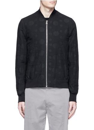 Main View - Click To Enlarge - PS PAUL SMITH - Polka dot jacquard cotton-wool bomber jacket
