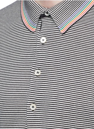 Detail View - Click To Enlarge - PS PAUL SMITH - Multi stripe polo shirt