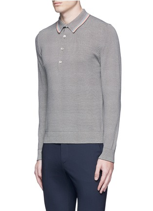 Front View - Click To Enlarge - PS PAUL SMITH - Multi stripe polo shirt