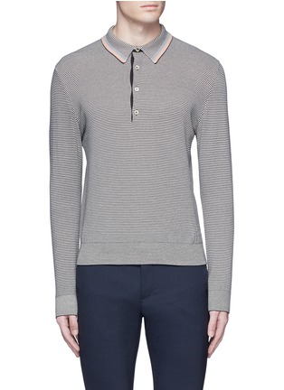 Main View - Click To Enlarge - PS PAUL SMITH - Multi stripe polo shirt