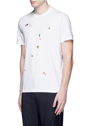Front View - Click To Enlarge - PS Paul Smith - 'Tablet' print cotton T-shirt