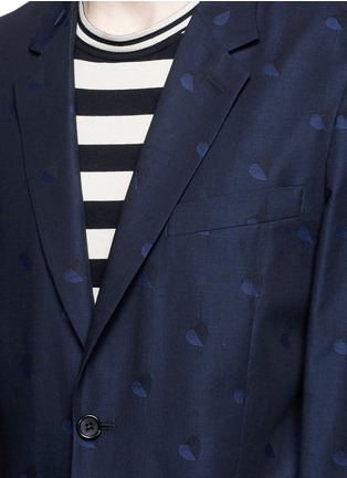 Detail View - Click To Enlarge - PS Paul Smith - Heart jacquard cotton-wool blazer