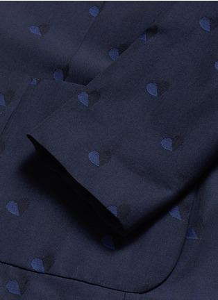 - PS Paul Smith - Heart jacquard cotton-wool blazer