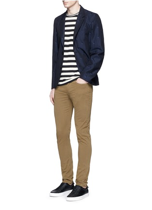 Figure View - Click To Enlarge - PS Paul Smith - Heart jacquard cotton-wool blazer