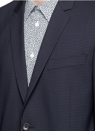 Detail View - Click To Enlarge - PS Paul Smith - Slim fit micro check wool blazer