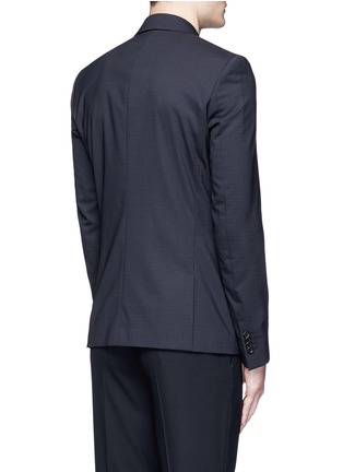 Back View - Click To Enlarge - PS Paul Smith - Slim fit micro check wool blazer