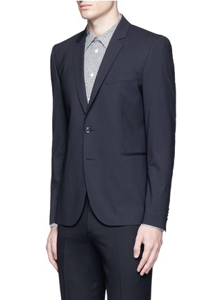 Front View - Click To Enlarge - PS Paul Smith - Slim fit micro check wool blazer
