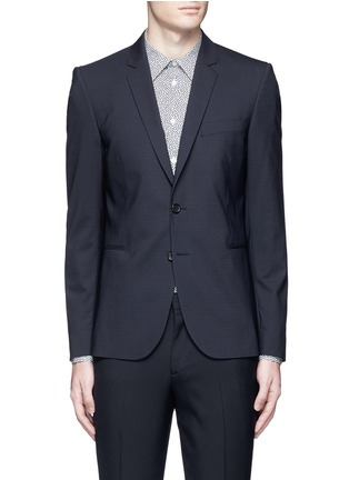 Main View - Click To Enlarge - PS Paul Smith - Slim fit micro check wool blazer