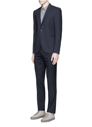 Figure View - Click To Enlarge - PS Paul Smith - Slim fit micro check wool blazer
