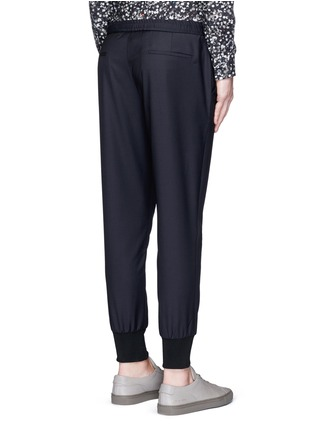 Back View - Click To Enlarge - PS Paul Smith - Slim fit tailored wool sweatpants