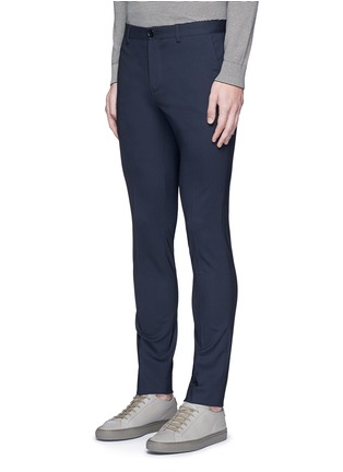 Front View - Click To Enlarge - PS PAUL SMITH - Slim fit micro check wool pants