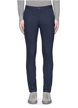 Main View - Click To Enlarge - PS PAUL SMITH - Slim fit micro check wool pants