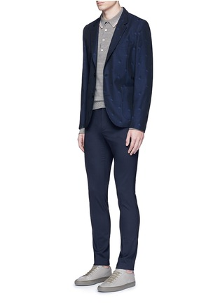 Figure View - Click To Enlarge - PS PAUL SMITH - Slim fit micro check wool pants