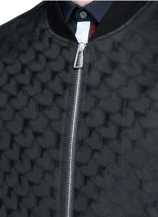 Detail View - Click To Enlarge - PS Paul Smith - 'Chain-Link Heart' jacquard bomber jacket