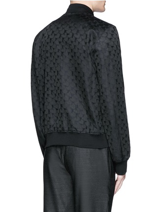 Back View - Click To Enlarge - PS Paul Smith - 'Chain-Link Heart' jacquard bomber jacket