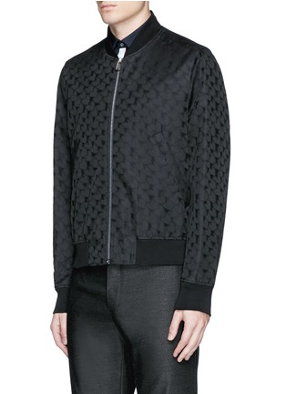 Front View - Click To Enlarge - PS Paul Smith - 'Chain-Link Heart' jacquard bomber jacket