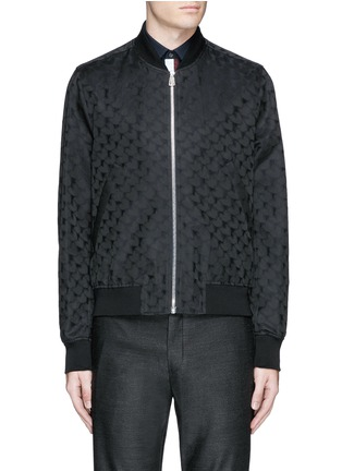 Main View - Click To Enlarge - PS Paul Smith - 'Chain-Link Heart' jacquard bomber jacket