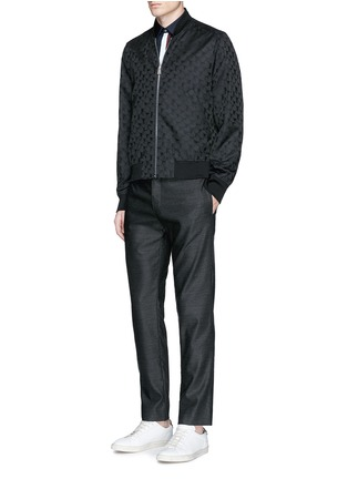 Figure View - Click To Enlarge - PS Paul Smith - 'Chain-Link Heart' jacquard bomber jacket