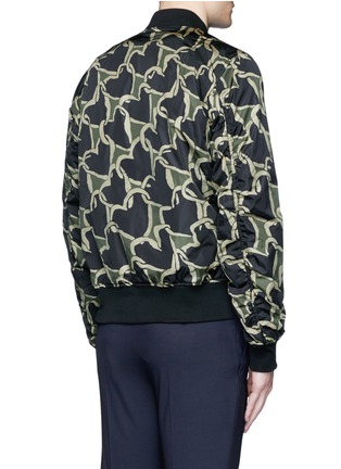 Back View - Click To Enlarge - PS by Paul Smith - 'Chain-link Heart' print bomber jacket