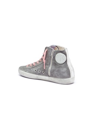 Detail View - Click To Enlarge - Golden Goose - 'Francy' suede high top sneakers
