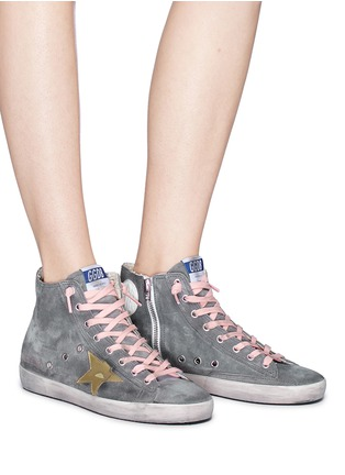 Figure View - Click To Enlarge - Golden Goose - 'Francy' suede high top sneakers