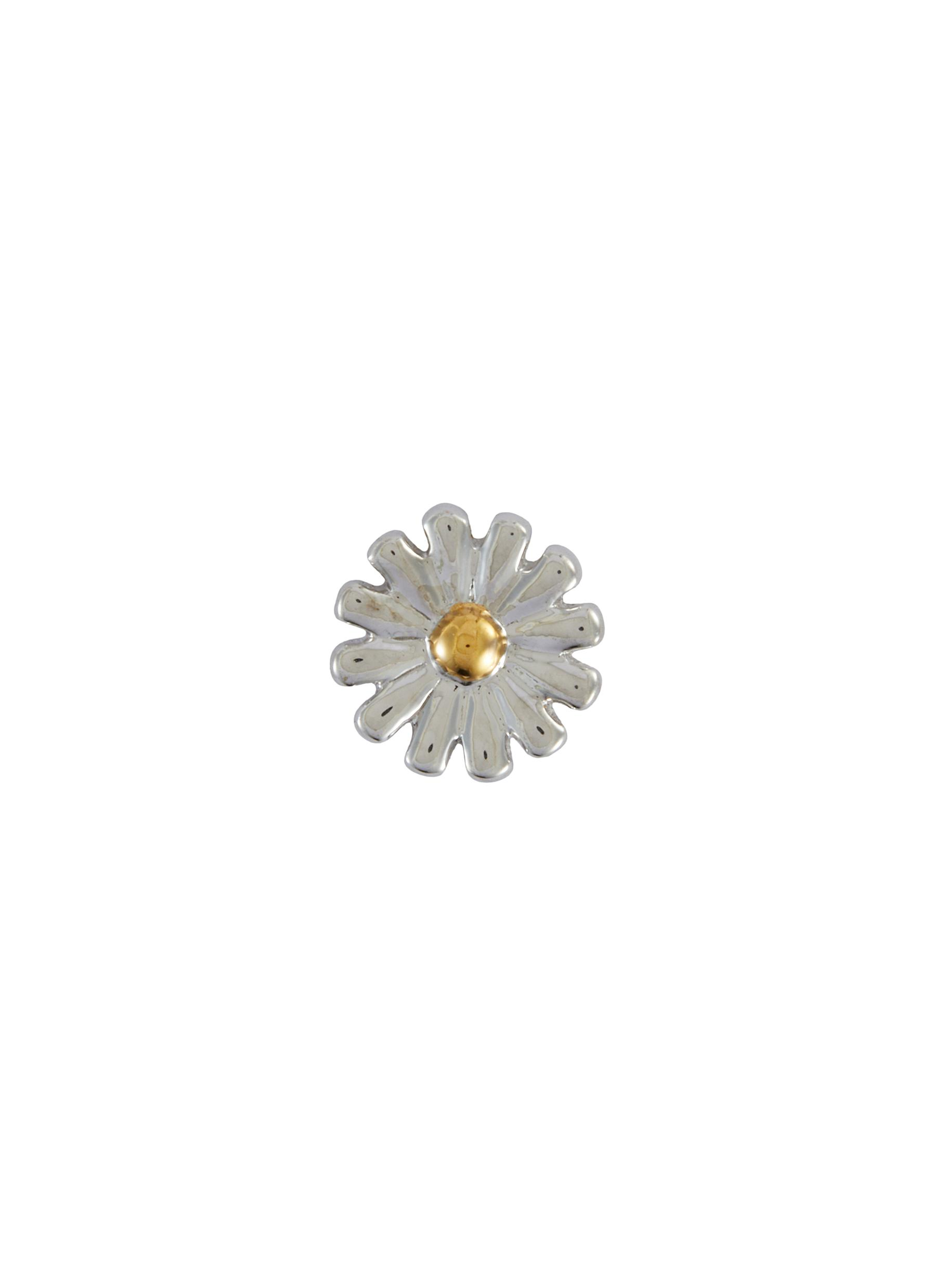 'Daisy' 18k White Gold Enamel Detail Charm