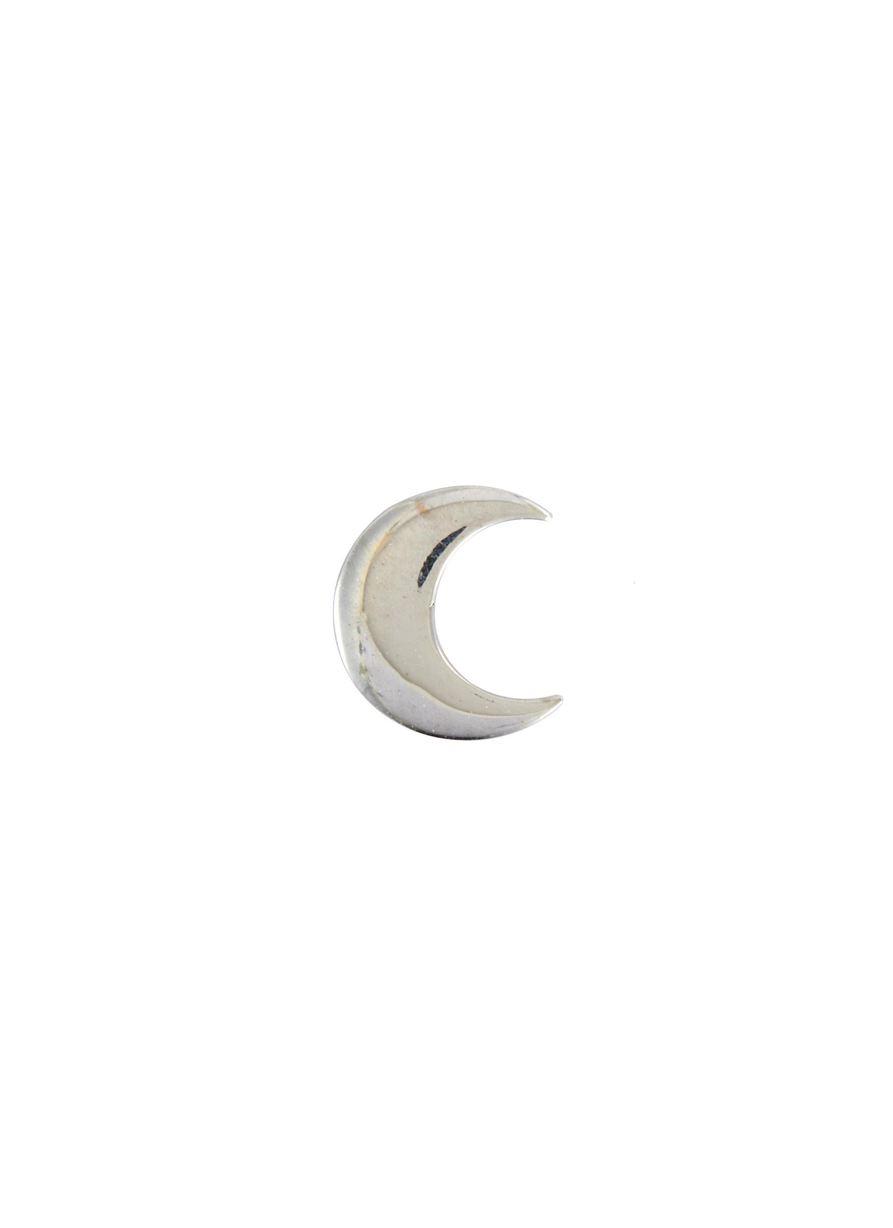 Moon 18k White Gold Charm