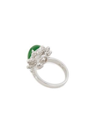 Figure View - Click To Enlarge - SAMUEL KUNG - Diamond jadeite 18k white gold ring