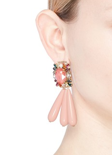 Anton Heunis 'JYJ3.22' Swarovski crystal cluster teardrop fringe earrings