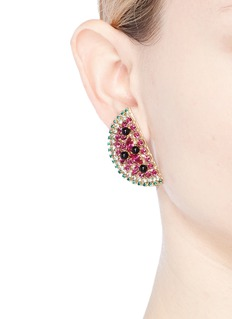 Anton Heunis Swarovski crystal watermelon slice earrings