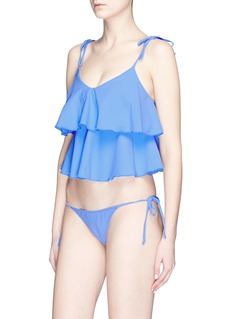 Lisa Marie Fernandez 'Imaan' tiered ruffle crepe bikini set