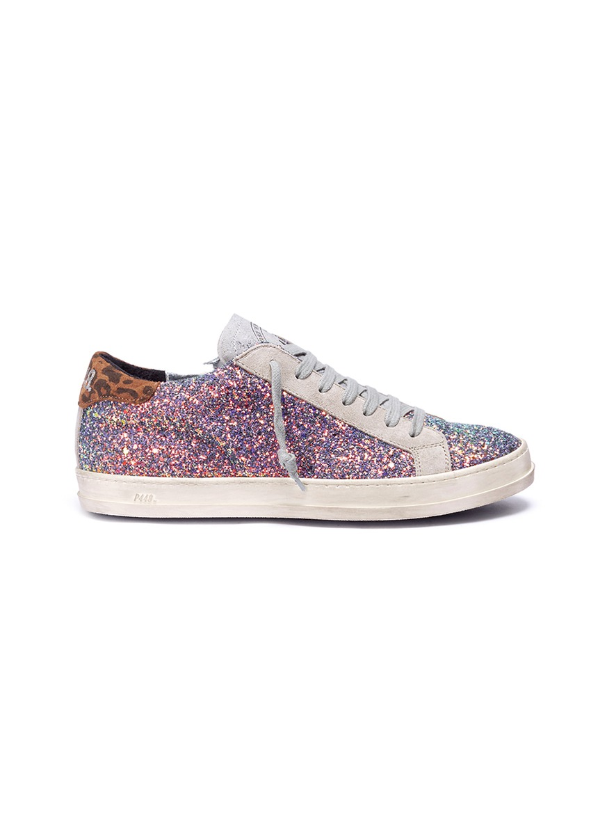 Coarse glitter suede sneakers by P448