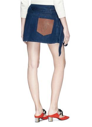 Back View - Click To Enlarge - JW Anderson - 'Lea' sash tie mini denim skirt