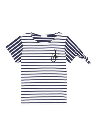 Main View - Click To Enlarge - JW Anderson - Asymmetric knot sleeve stripe unisex T-shirt