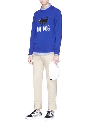 - Egle Zvirblyte x Lane Crawford - 'Hot Dog' unisex wool sweater