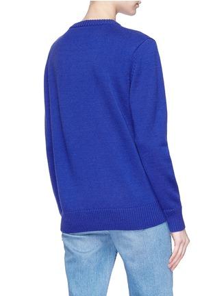 Back View - Click To Enlarge - Egle Zvirblyte x Lane Crawford - 'Hot Dog' unisex wool sweater