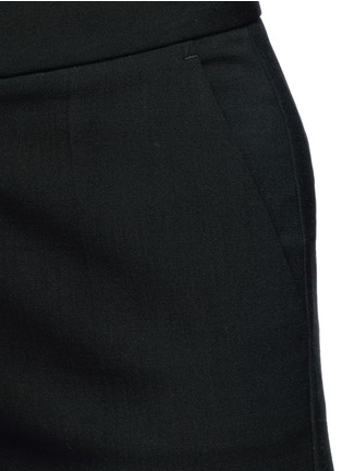 Detail View - Click To Enlarge - Stella McCartney - Flared cuff cropped wool crepe pants
