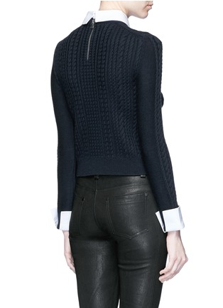 Back View - Click To Enlarge - alice + olivia - 'Gila' cable knit sweater