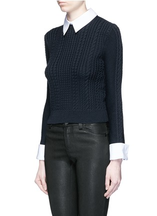 Front View - Click To Enlarge - alice + olivia - 'Gila' cable knit sweater