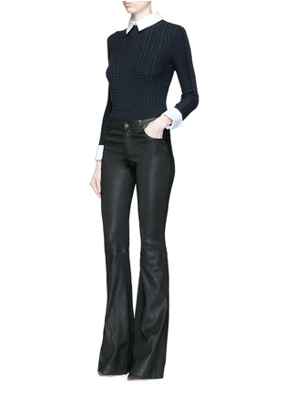 Figure View - Click To Enlarge - alice + olivia - 'Gila' cable knit sweater
