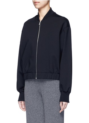 Front View - Click To Enlarge - THE ROW - 'Scotia' scuba jersey bomber jacket