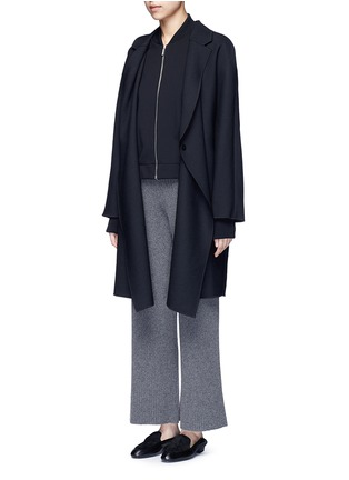 Figure View - Click To Enlarge - THE ROW - 'Scotia' scuba jersey bomber jacket