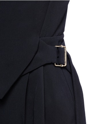 Detail View - Click To Enlarge - Lanvin - Buckled waist tailored suiting jumpsuit