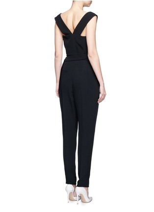 Back View - Click To Enlarge - Lanvin - Buckled waist tailored suiting jumpsuit