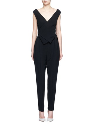 Main View - Click To Enlarge - Lanvin - Buckled waist tailored suiting jumpsuit